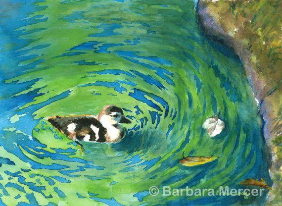 Baby Boy Nursery Art-Duck-Nursery Prints-Baby by PaintDaubs