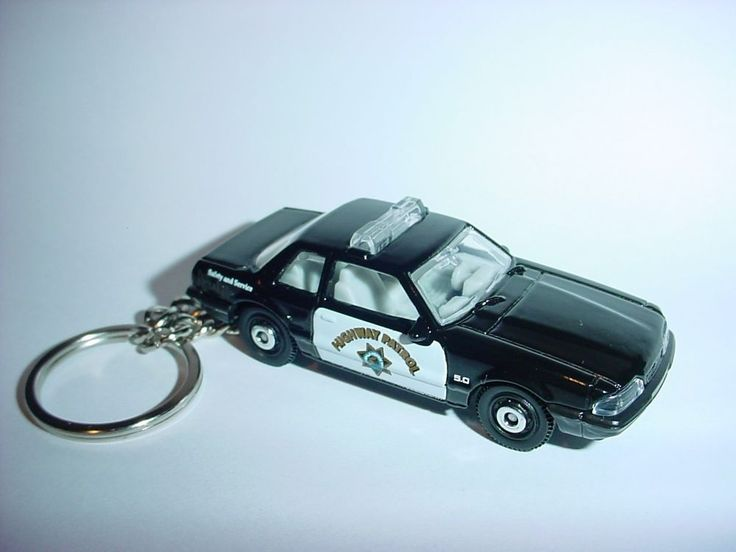 NEW 3D 1993 FORD MUSTANG LX POLICE CAR CUSTOM KEYCHAIN keyring key cop highway  #Unbranded