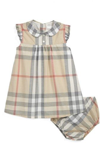 Way too expensive but how cute! Burberry 'Davina' Dress (Baby Girls) available at #Nordstrom
