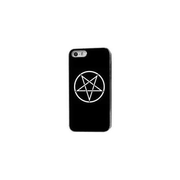 HAIL SATAN STAR PHONE CASE HARD COVER (FITS IPHONE MODELS) | eBay ❤ liked on Polyvore featuring accessories and tech accessories