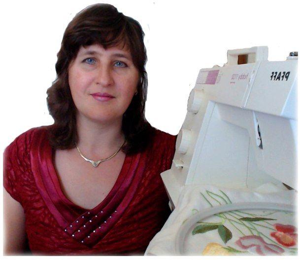 Обучаю вышивке через интернет на простой швейной машинке