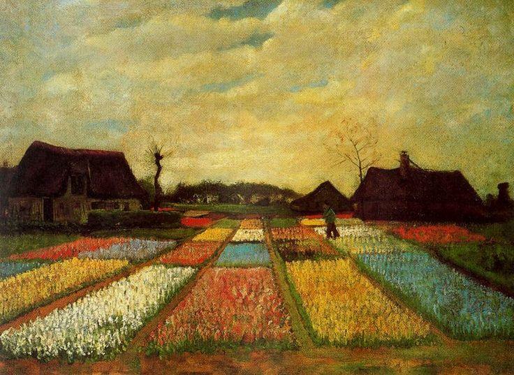 """""""Campo de tulipanes"""" de Vincent Van Gogh"""