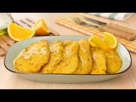 Chicken Breast Cutlets in Orange Sauce - Breaded Chicken in Orange Sauce Recipe - YouTube