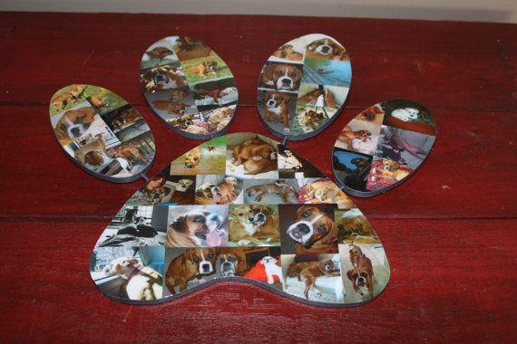 Paw Print fotocollage huisdier aandenken verlies door kiramarie03