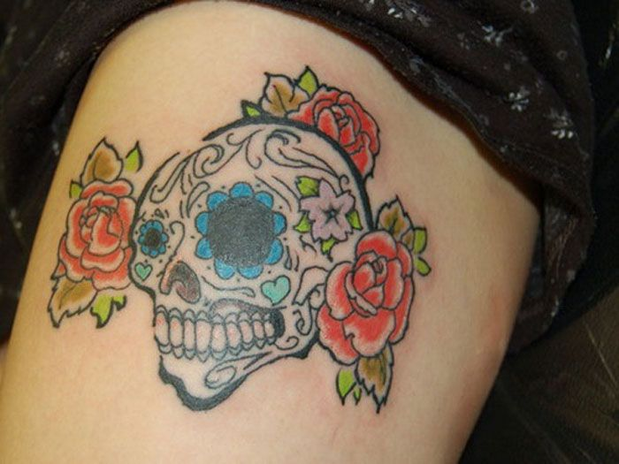 Upper Thigh Tattoos For Girls 6 Pictures to pin on Pinterest