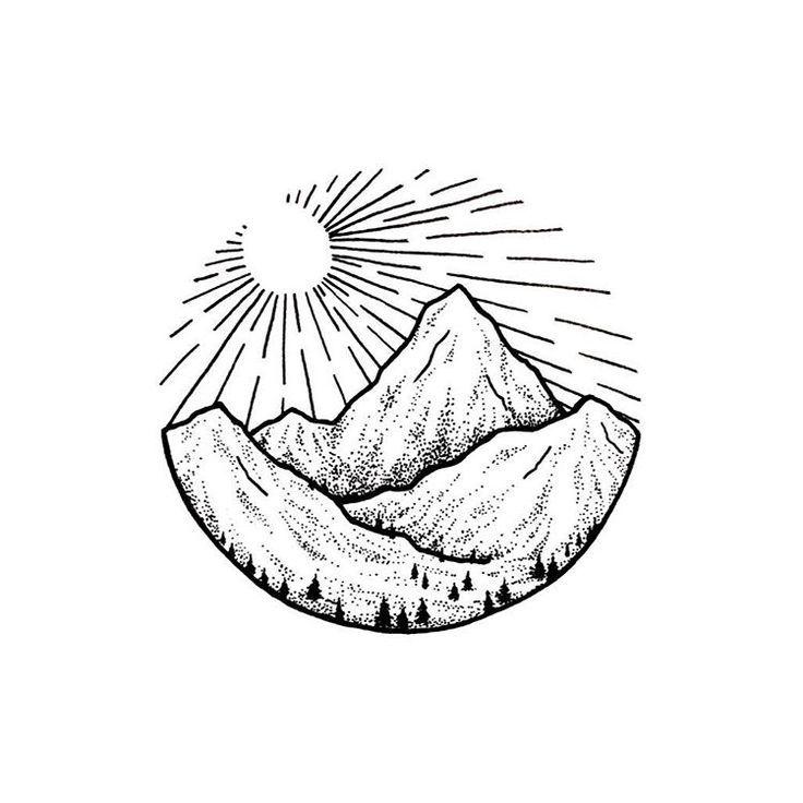25 Beautiful Geometric Mountain Tattoo Ideas On Pinterest