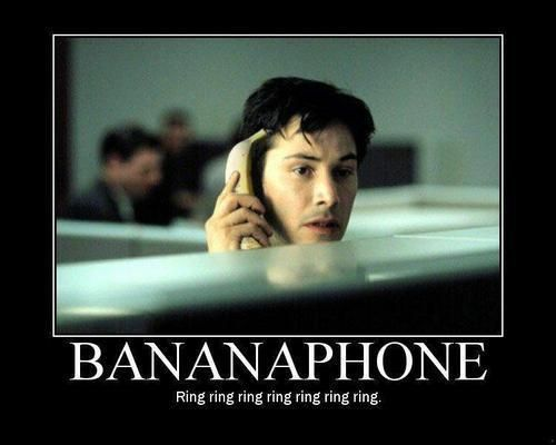 Banana Phone.... Mike has teased the girls about the banana phone since Rachel was a bean :)
