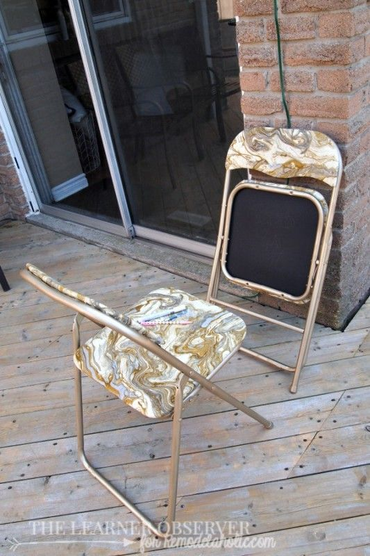 Remodelaholic | From Evergreen to Ever-fabulous! - Folding Chair Makeover