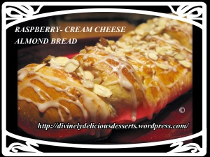 raspberry cream cheese almond bread | Beautiful Breads | Pinterest