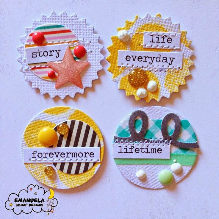 Paper embellishments for scrapbooking, tags, cards, etc., etc... Dream Challenge #4.14