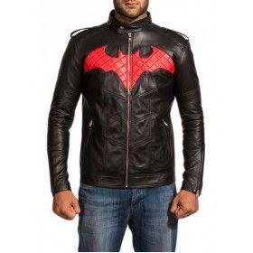Batman Black Leather Jacket For sale   New Arrival
