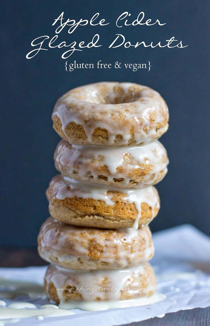 Making it Milk-free: Apple Cider Glazed Donuts {Gluten Free & Vegan}