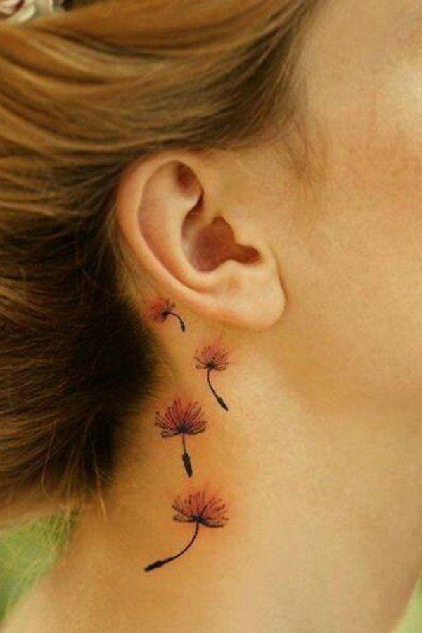 47 ideias para tatuagens atrás da orelha!   Tatuagem no pescoço masculino, Tatuagem atras da orelha, Tatuagem atrás da orelha