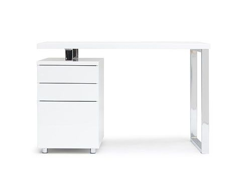 Here is a desk similar to the one we used with drawers for storage. The desk we used in the models was from storage. - Structube, Manchester.  #Uptownes  Design Jo-Ann Capelaci Builder: Geranium Homes