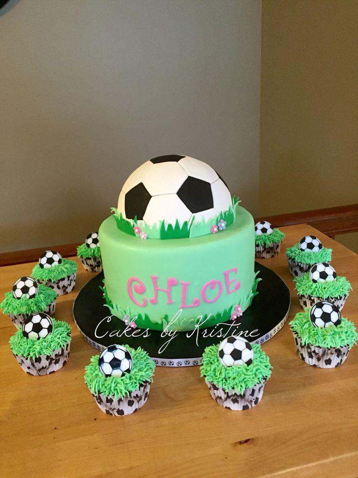 Girl's soccer cake