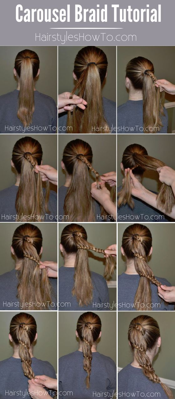 Carousel Braid Tutorial also known as a Spiral Lace Braid Ponytail.