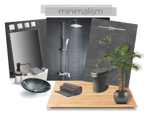 """Modern Bath Minimalist style"" by riri-thatsme ❤ liked on Polyvore featuring interior, interiors, interior design, home, home decor, interior decorating, Casadeco, Suki Cheema, Tech Lighting and Allied Brass"