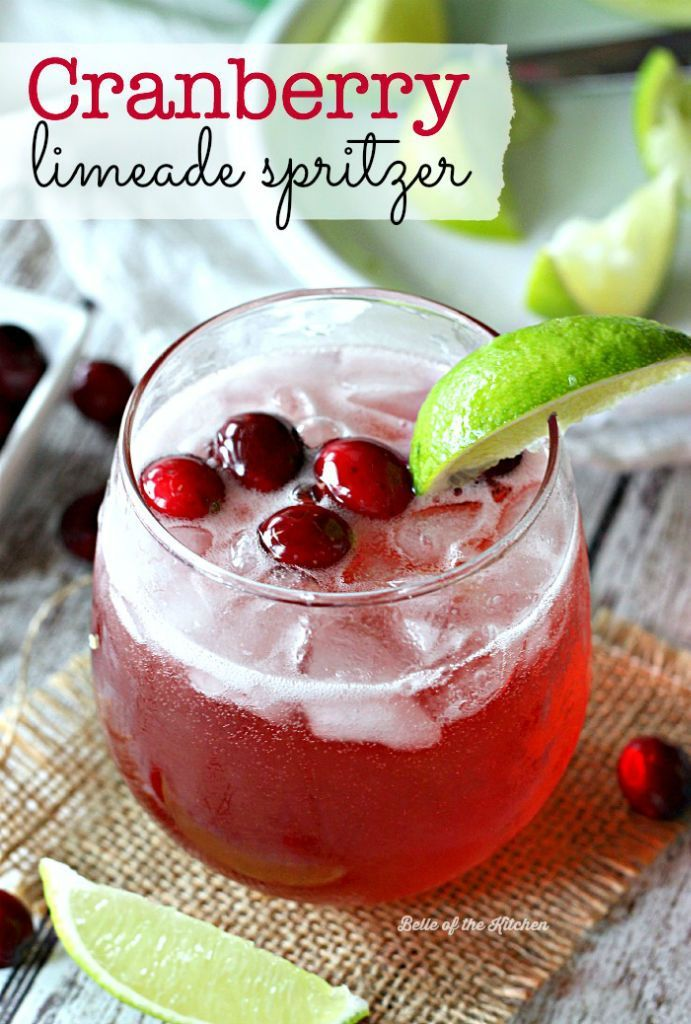 This Cranberry Limeade Spritzer is easy, refreshing, and so delicious!