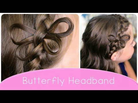 Video tutorial for the beautiful Butterfly Braided Headband | Cute Hairstyle Ideas from CuteGirlsHairstyles.com #CGHButterflyHeadband #Butterfly #CuteHairstyles