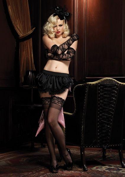 Игривый наряд, который отлично подойдет для сочетания с эротическим бельём или обувью. Пышная юбочка, выполненная из атласа, хорошо смотрится на любой фигуре…