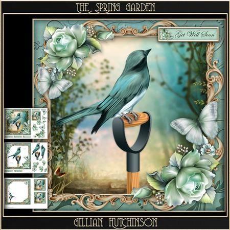 The Spring Garden on Craftsuprint designed by Gillian Hutchinson - Simply Sumara…