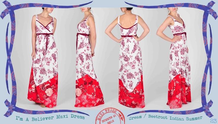 023 I'm-a-Believer maxi dress in cream Indian Summer