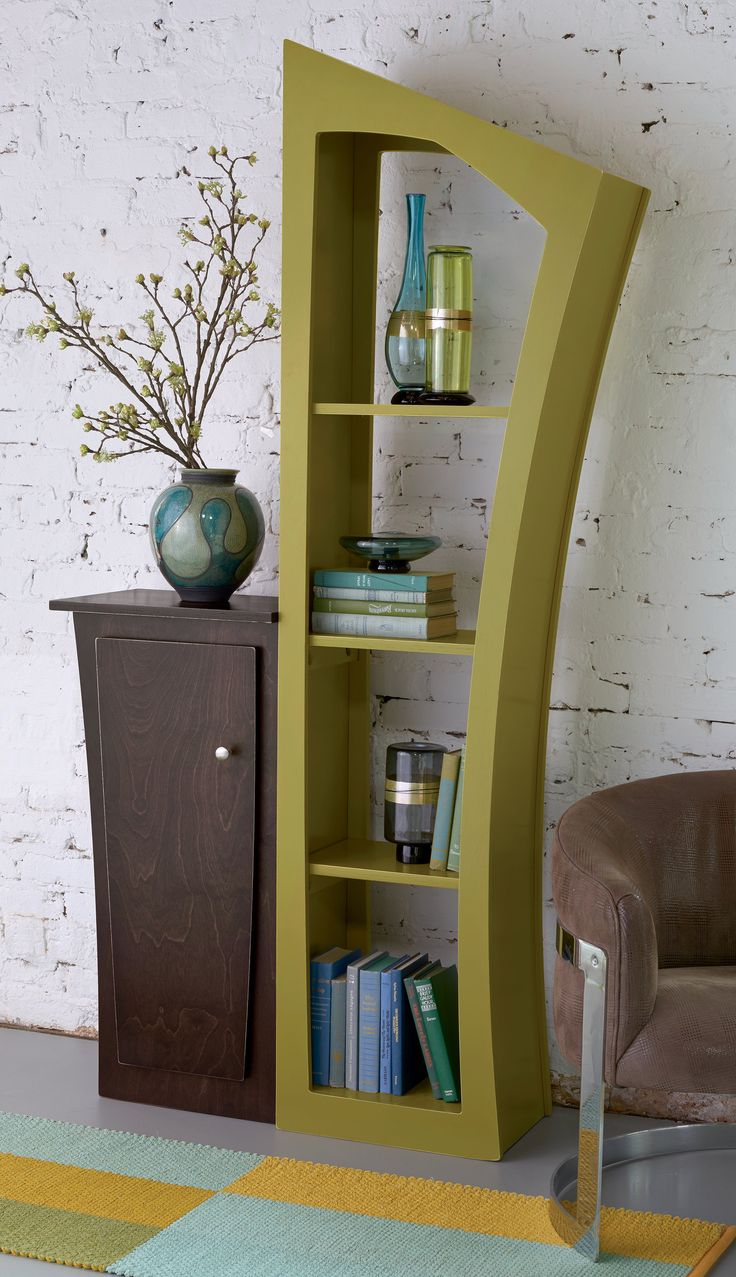 Reversible Stacked Cabinet by Vincent Leman: Wood Bookstand available at www.artfulhome.com