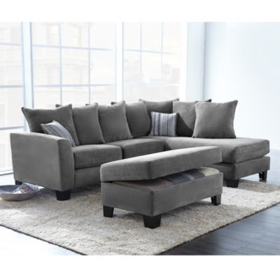 39corey39 collection 2 piece sectional sofa with chaise With sectional sofa connectors canada