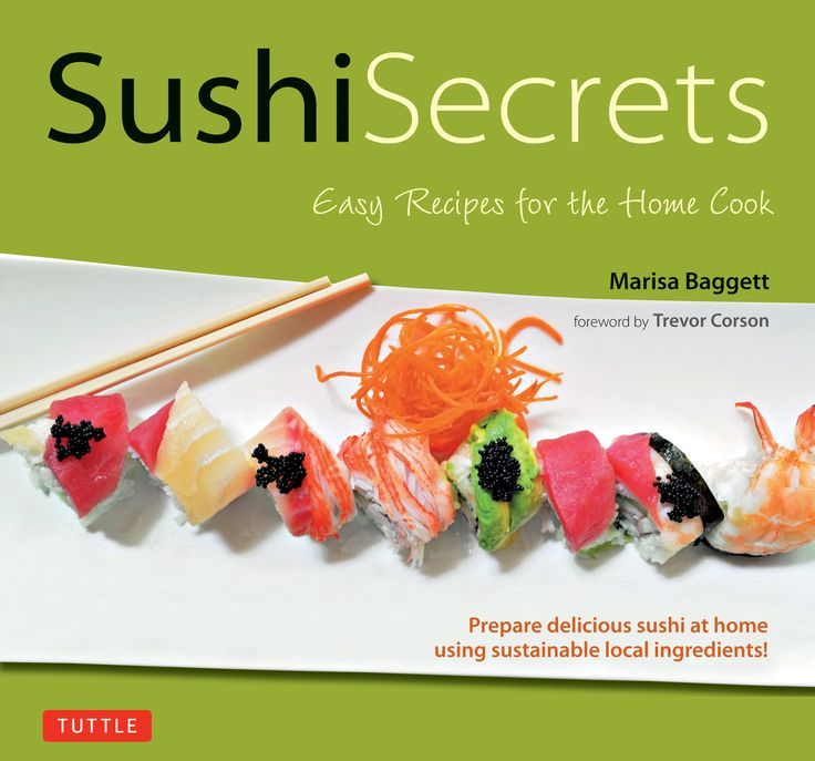 In Sushi Secrets, renowned sushi chef, Marisa Baggett shares with you both traditional and nontraditional sushi, all of them delicious and all of them very easy to make. This sushi cookbook teaches you everything you need to know to make delicious Japanese sushi for beginners. Marisa includes surefire recipes for making perfect sushi rice, tips on how to find and buy the freshest sushi fish and sustainability and how to achieve it at home.