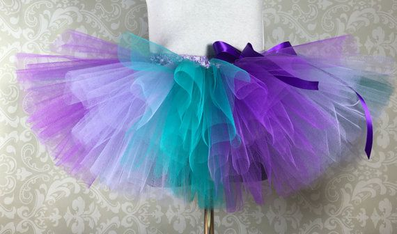 Striped Ariel Tutu, Little Mermaid Tutu, Disney Tutu, Peacock Tutu, Infant/Toddler Tutu Girls/TeenTutu, Adult Tutu, Run Disney Tutu
