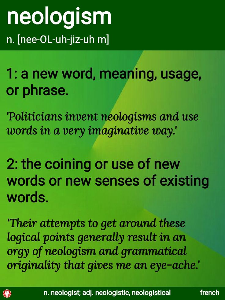 Neologist meaning