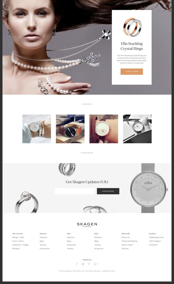 Skagen Global Website on Behance