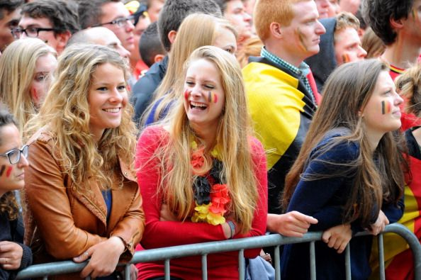 <3Belgian FIFA World Cup 2014 fans...wish I was one of them standing there with my true-colors on<3