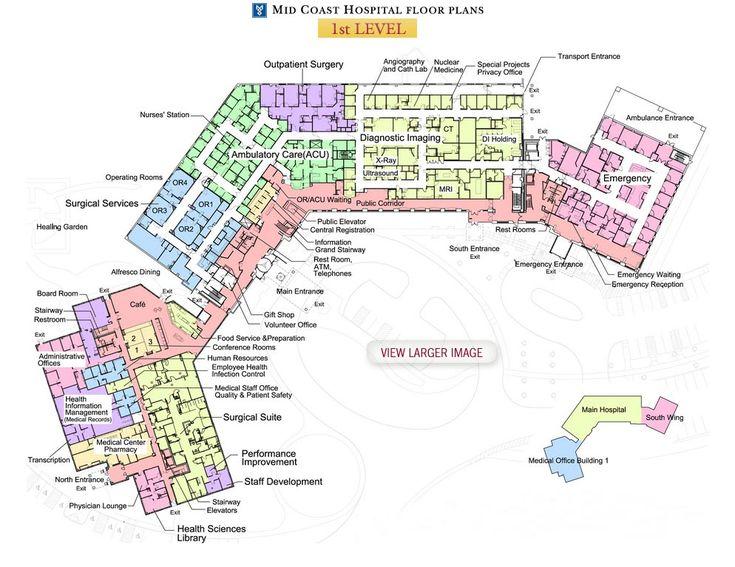 Mid Coast Hospital Floor Plans - Level 1
