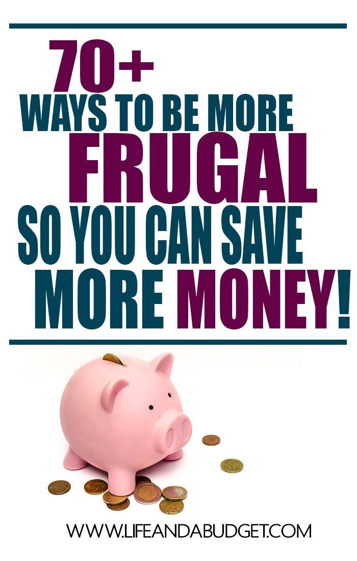 Here are 70+ ways to get your frugal on and save more money. Stop putting your finances on the back burner and read this today!