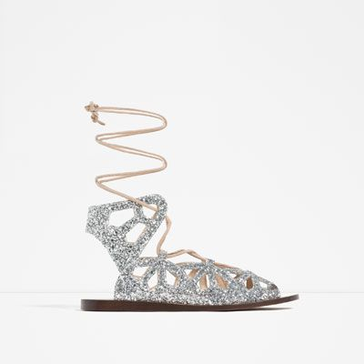 STUDDED ROMAN SANDALS-Flats-SHOES-WOMAN | ZARA United States