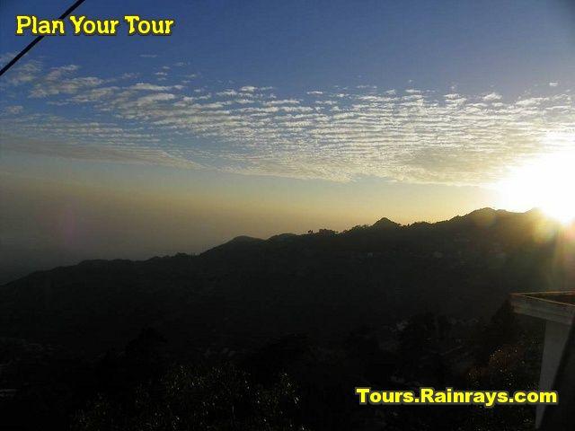 Tourist Attraction India: Gun Hill Mussoorie and Sun Set