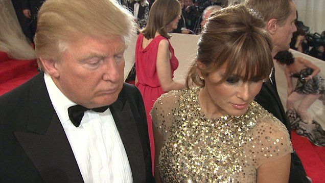 Melania was questioned on the possibly of becoming first lady at the 'Alexander McQueen Costume Institute Gala At The Metropolitan Museum Of Art in New York City.