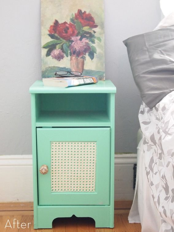 Colorful and refreshing nightstand makeover  http://www.homedit.com/colorful-refreshing-nightstand-makeover/