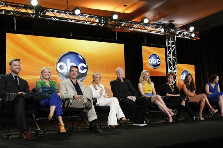 "WINTER PRESS TOUR 2012 - ""GCB"" Session - The cast and producer of ABC's ""GCB"" addressed the press at Disney/ABC Television Group's Winter Press Tour 2012. (ABC/RICK ROWELL) BRAD BEYER, JENNIFER ASPEN, DAVID JAMES ELLIOTT, KRISTIN CHENOWETH, ROBERT HARLING (EXECUTIVE PRODUCER), LESLIE BIBB, ANNIE POTTS, MARISOL NICHOLS, MIRIAM SHOR"