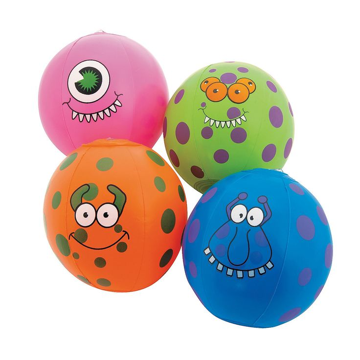 Inflatable Mini Monster Beach Balls - OrientalTrading.com