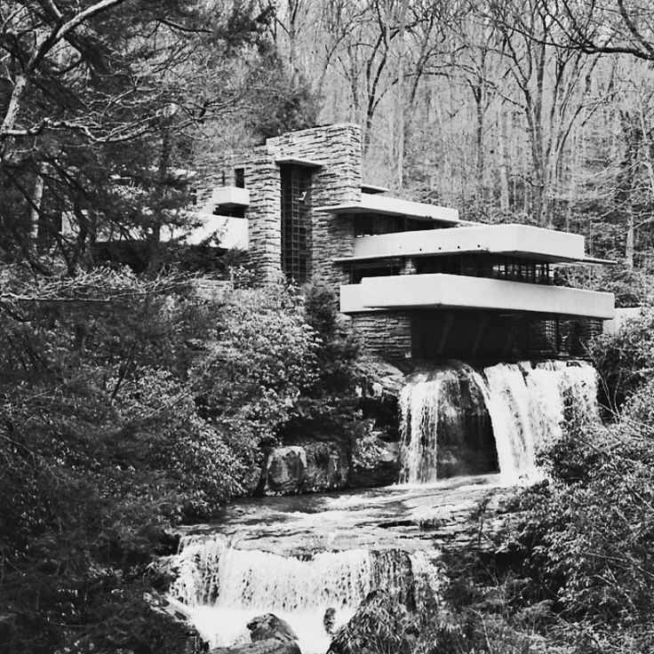 The Frank Lloyd Wright designed #Fallingwater home built in 1938. Located in Mill Run, Pennsylvania. Photo © Marc Mazzoni ... bauhaus-movement.com