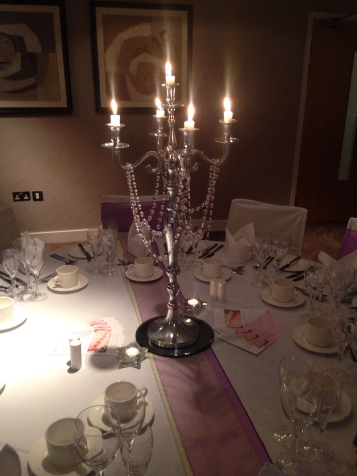 Chair covers of Hampshire candelabra