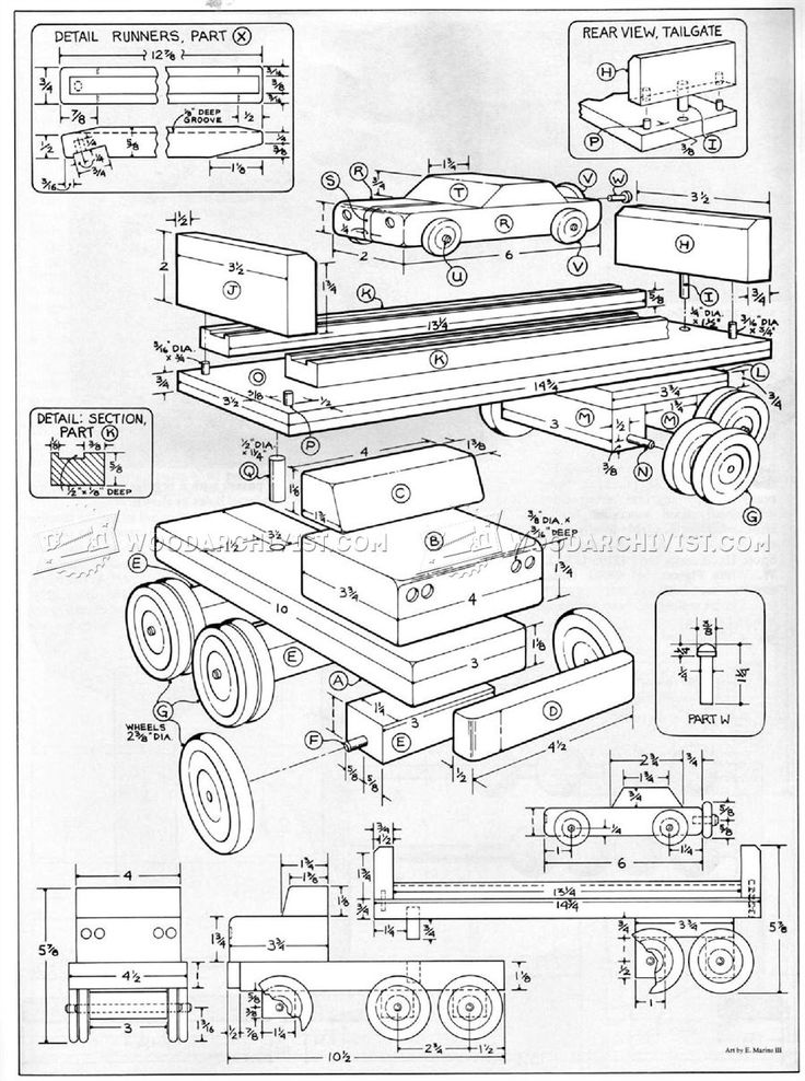 2554 Wooden Toy Car Carrier Plans Wooden Toy Plans