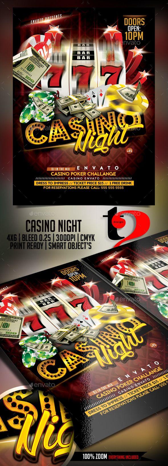 Casino Night Flyer Template | Casino Infographics