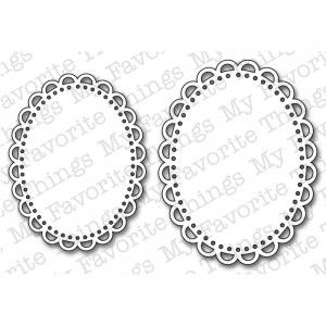 Die namics MFT144 - Oval Open Scallop Doilies