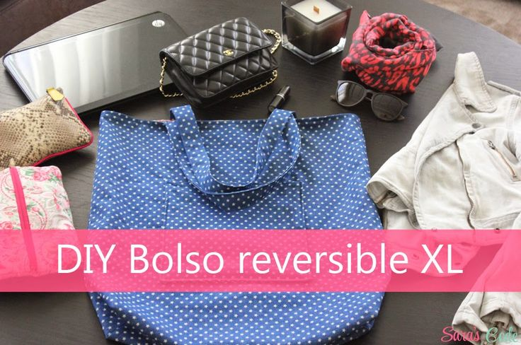 DIY Bolso reversible XL o Tote Bag ~ Sara's Code: Blog de Costura + DIY