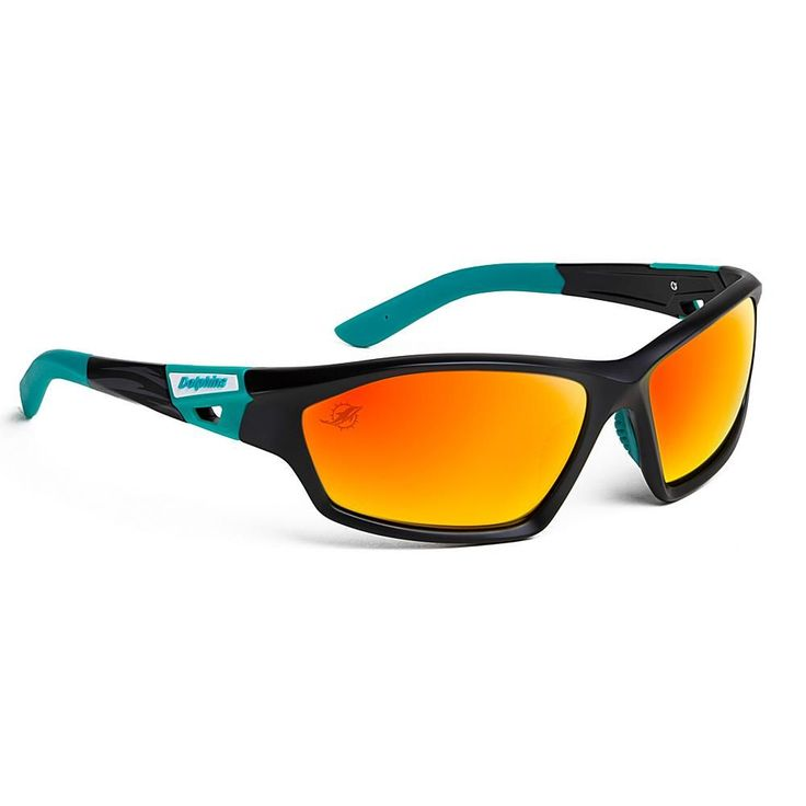 """Officially Licensed NFL """"Lateral"""" Sunglasses with 360-Degree Bendable Arm Technology by Eye Ojo - Dolphins"""