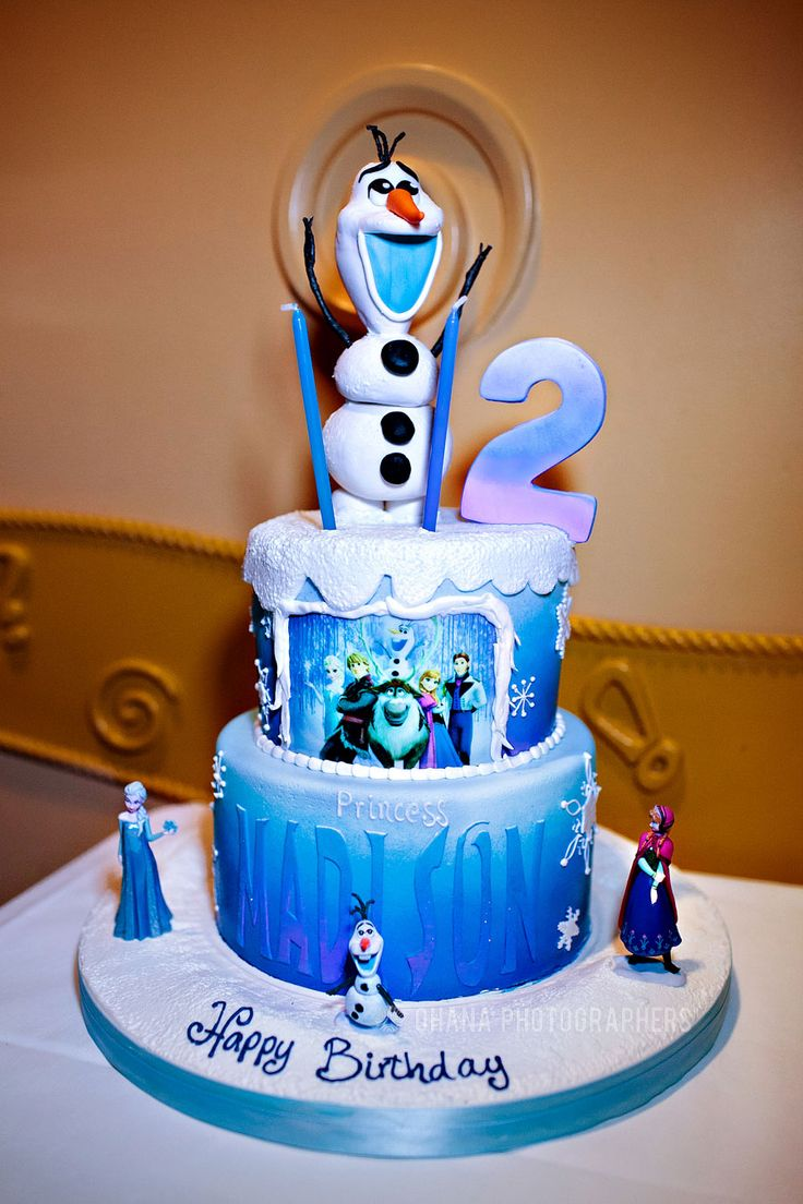 Frozen Theme Birthday Party // Frozen Theme Birthday Cake ...