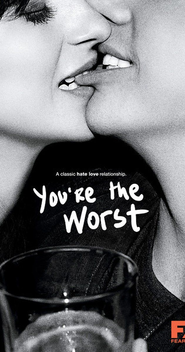 Created by Stephen Falk.  With Chris Geere, Aya Cash, Desmin Borges, Kether Donohue. Centers on two toxic, self-destructive people who fall in love and attempt a relationship.